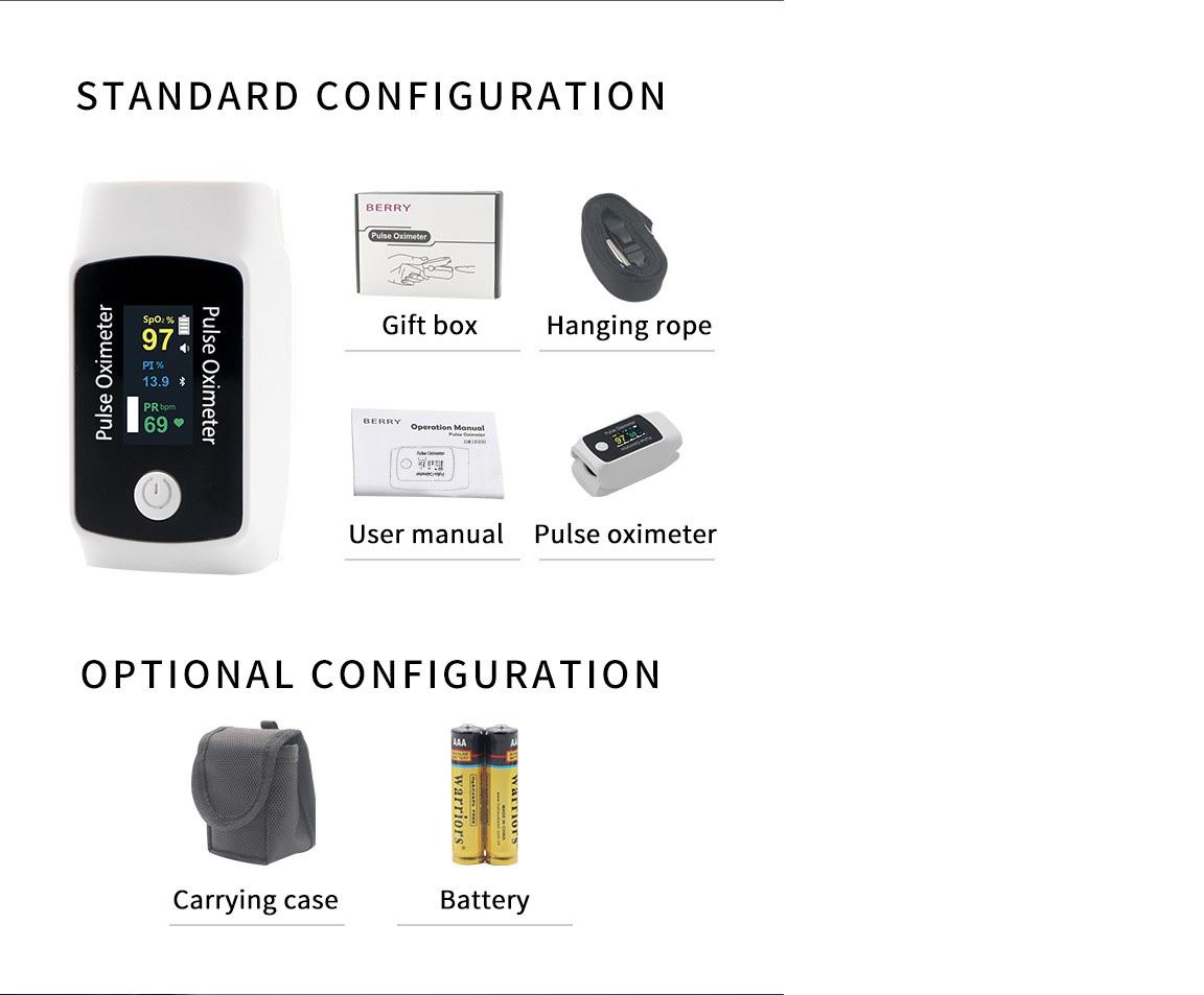 Máy đo oxy xung đầu ngón tay kết nối Bluetooth qua Smartphone; Ipad; PC hệ điều hành Android; IOS