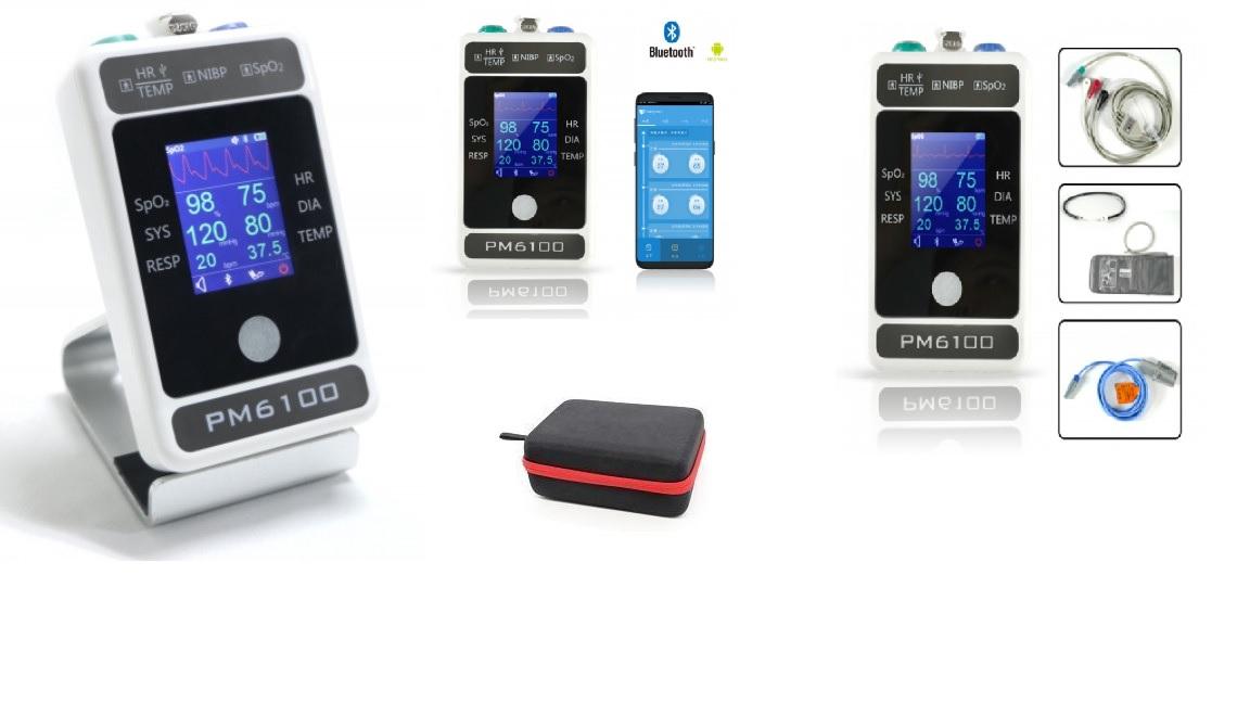 Monitor theo dõi bệnh nhân 04 thông số (loại cầm tay) có chức năng kết nối (Bluetooth dành cho PC và điện thoại Android, Android Pad) dùng cho người lớn; trẻ em; trẻ sơ sinh với màn hình TFT LCD 2.4 i