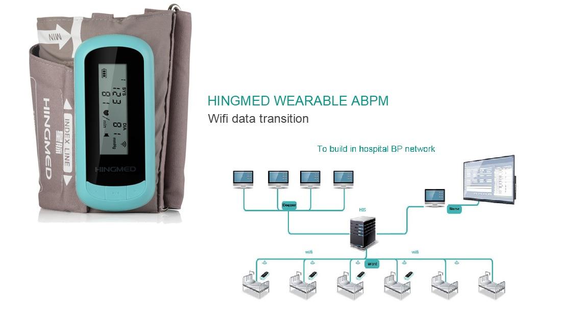 Máy theo dõi huyết áp tại giường; tại nhà có kết nối Wifi; Blutooth với PC; với hệ điều hành Android