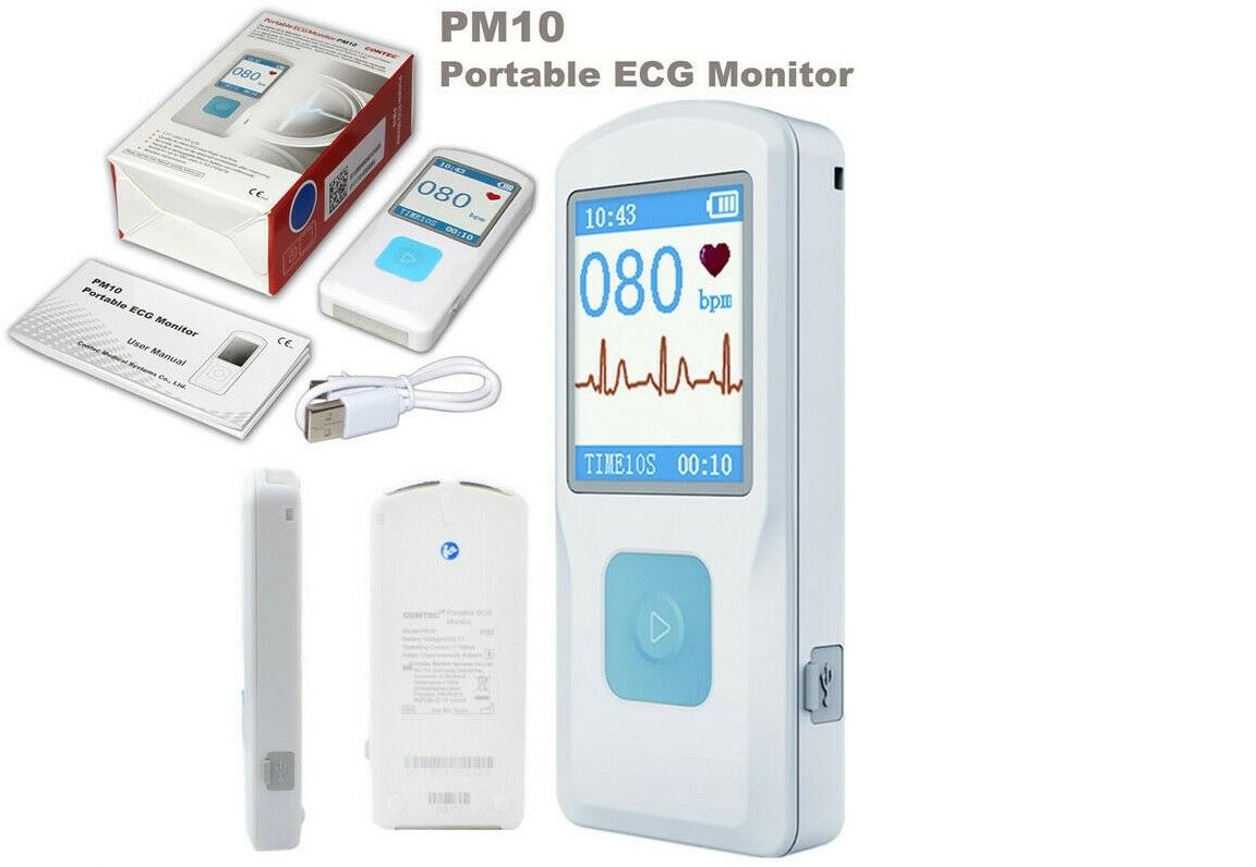 Máy đo điện tim loại cầm tay có kết nối Wifi; Blutooth để kết nối với PC, Iphone Smartphone bởi hệ điều hành Android hoặc IOS