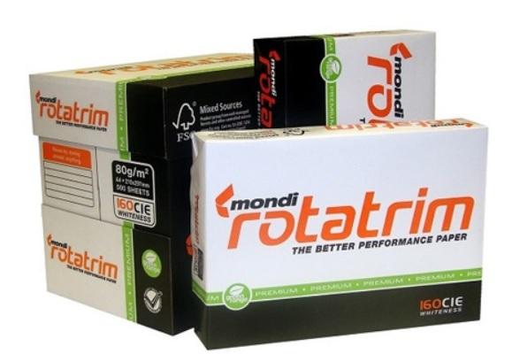Giấy in A4 loại Mondi Rotatrim A4 80 Gsm