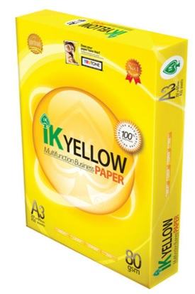 Giấy in A4 loại cao cấp IK Yellow A4 80Gsm