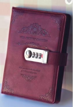 Sổ tay cao cấp bằng da PU với thiết kế khoá vòng bi & bút