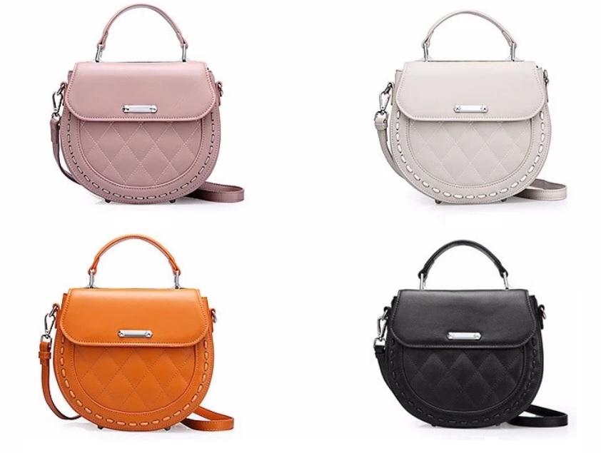 Túi xách thời trang dạng lưới bằng da dành cho nữ