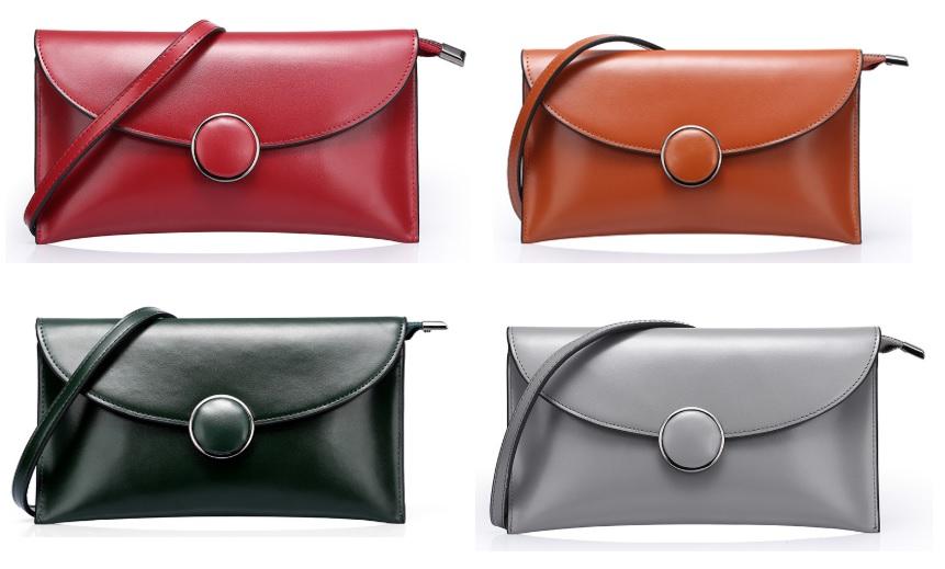Túi xách, ví cầm tay bằng da thật của phụ nữ thời trang