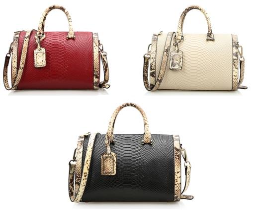 Túi xách tay dành cho phụ nữ kiểu da rắn chất lượng cao