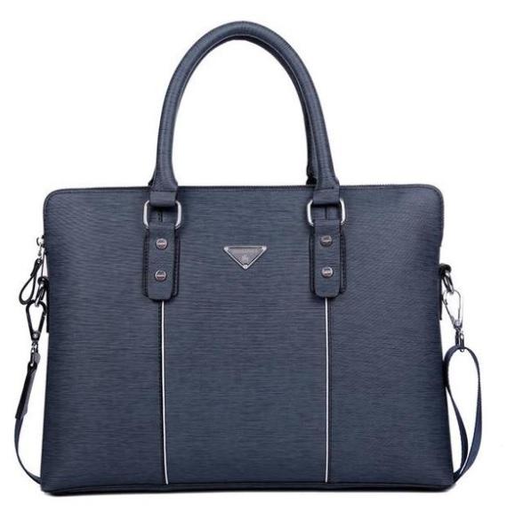 Túi da màu xanh kinh doanh