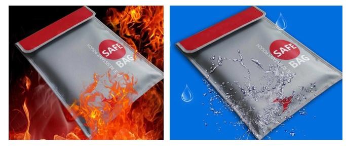 Túi đựng tiền; tài liệu chống cháy; chống nước