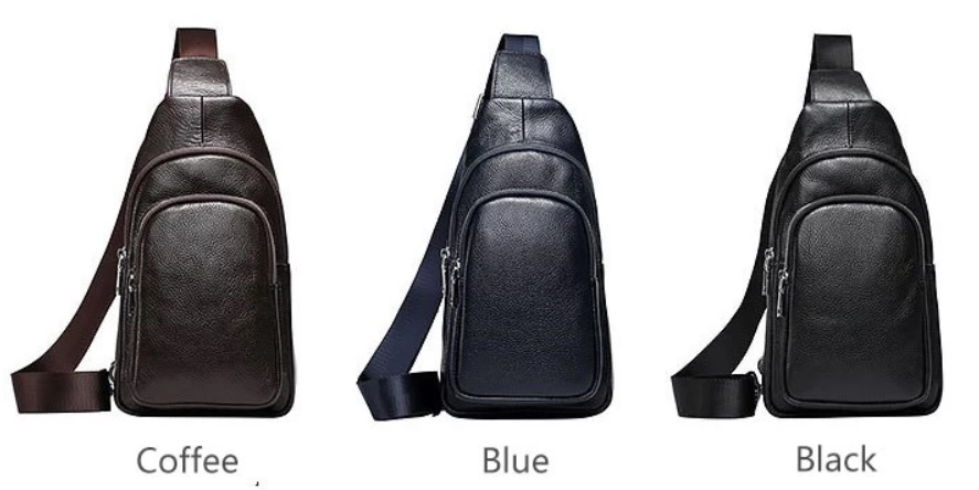 Túi da đeo trước ngực của nam giới thiết kế mới nhất