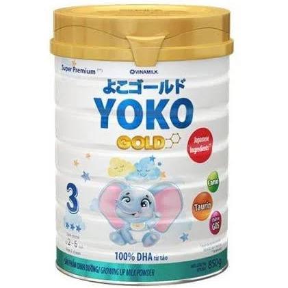 Sữa Yoko Gold 3 cho trẻ từ 24->36 tháng tuổi (Sữa đặc hiệu cung cấp dưỡng chất thiết yếu của trẻ, giúp tăng cường sức đề kháng và phát triển não bộ)