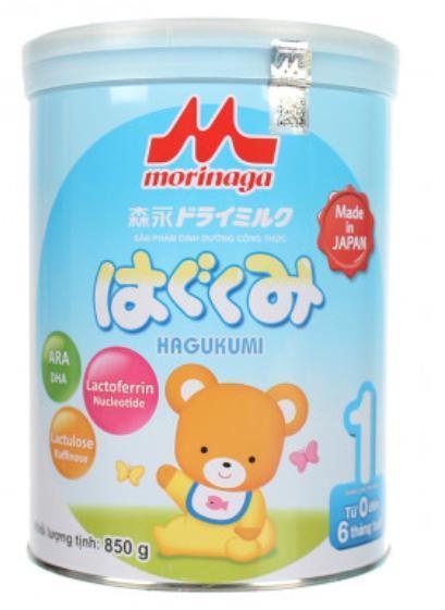 Sữa Morinaga 1 cho trẻ từ 0->06 tháng tuổi (Sữa đặc hiệu dinh dưỡng đặc chế cho chế độ của trẻ mất hoặc thiếu sữa mẹ, hỗ trợ sự phát triển các tố chất sức khỏe của trẻ theo sinh lý lứa tuổi)