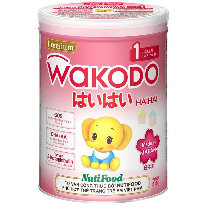 Sữa Wakodo Haihai 1 cho trẻ từ 0->12 tháng tuổi (Sữa đặc hiệu dinh dưỡng đặc chế hỗ trợ tiêu hóa khỏe mạnh, tăng cường sức đề kháng, giúp phát triển não bộ và hỗ trợ tăng cân, phát triển chiều cao)