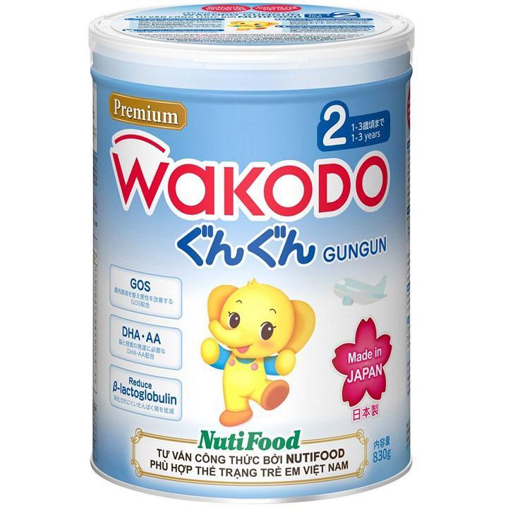 Sữa Wakodo Gungun 2 cho trẻ từ 12->36 tháng tuổi (Sữa đặc hiệu dinh dưỡng đặc chế hỗ trợ tăng cường sức đề kháng, giúp hệ tiêu hóa khỏe mạnh, phát triển não bộ và thị giác, giúp tăng cân, tăng chiều c