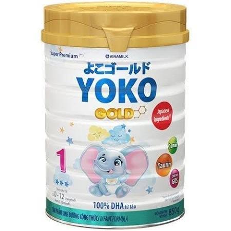 Sữa Yoko Gold 1 cho trẻ từ 0->12 tháng tuổi (Sữa đặc hiệu dinh dưỡng đặc chế hỗ trợ phát triển não bộ, giúp bé dễ hấp thu, tiêu hóa khỏe)
