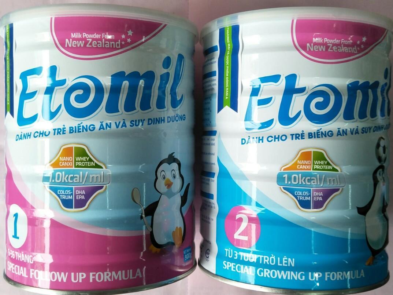 Sữa Etomil 1 & Etomil 2 (Sữa dành cho trẻ biếng ăn và suy dinh dưỡng)