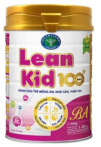 Sữa LeanKid 100+ BA (Sữa đặc hiệu dành cho trẻ biếng ăn; nhẹ cân; thấp còi;  ….)