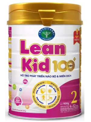 """Sữa LeanKid 100+ 2 (Sữa đặc hiệu dành cho trẻ phát triển não bộ và miễn dịch với hệ """"Nutri-Pro"""" dùng cho trẻ từ 6 -> 12 tháng tuổi;  ….)"""