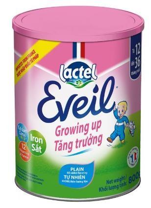 Sữa Lactel Eveil Growing Up (Sữa đặc hiệu dành cho trẻ giúp trẻ phát triển cao lớn, phát triển trí não và tăng cường hệ miễn dịch dành cho trẻ từ 1 đến 3 tuổi;  ….)