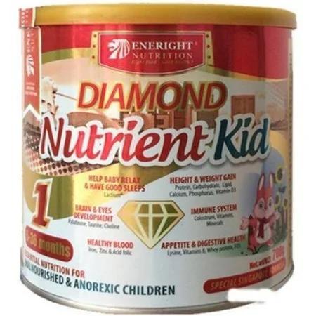 Sữa Diamond Nutrient Kid 1; 2; Kao (Sữa đặc hiệu dùng cho trẻ từ 01 đến 06 tuổi biếng ăn, ốm yếu, suy dinh dưỡng; thấp còi, trẻ cần tăng cân, bổ sung cho chế độ ăn thiếu đạm và vi chất dinh dưỡng)