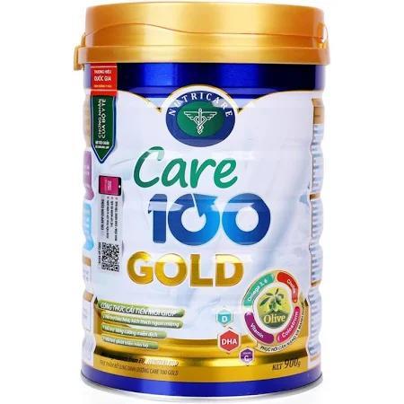 Sữa Care 100 Gold (Sữa đặc hiệu dành cho trẻ biếng ăn; suy dinh dưỡng thấp còi; giúp bổ sung cho chế độ ăn thiếu đạm và vi chất dinh dưỡng, hỗ trợ tăng cường sức khỏe tổng thể, giúp trẻ phát triển tốt