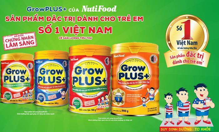 Sữa Grow Plus+ Đỏ; Xanh; Cam (Sữa đặc hiệu dành cho trẻ biếng ăn; suy dinh dưỡng thấp còi; giúp bổ sung cho chế độ ăn thiếu đạm và vi chất dinh dưỡng, hỗ trợ tăng cường sức khỏe tổng thể, giúp trẻ phá