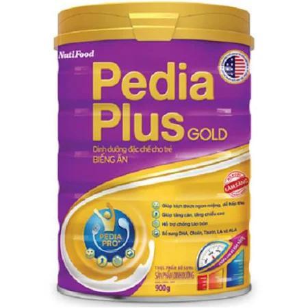 Sữa Pediaplus Gold (Sữa đặc hiệu hoàn hão dành cho trẻ biếng ăn và trẻ ốm, kích thích trẻ ăn ngon miệng, giúp trẻ phát triển trí não thị giác, cung cấp dưỡng chất cần thiết, hỗ trợ tiêu hóa giúp trẻ d