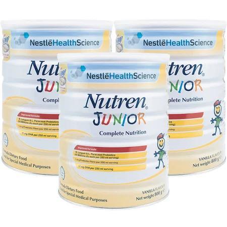 Sữa Nutren Junior (Sữa đặc hiệu là nguồn dinh dưỡng chuyên biệt cho trẻ biếng ăn, suy dinh dưỡng hoặc có nguy cơ suy dinh dưỡng, thấp còi, chậm tăng cân)