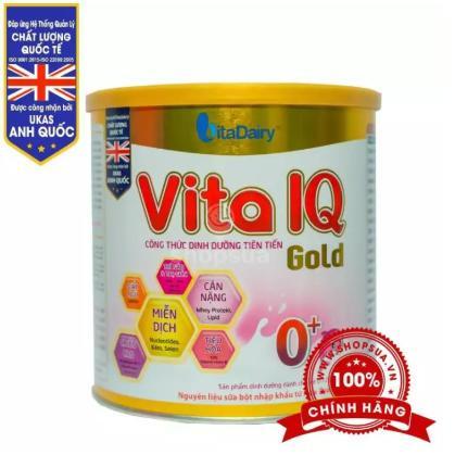 Sữa Vita IQ Gold 0+; 1+; 2+ (Sữa đặc hiệu dùng cho trẻ từ 0 tháng -> 36 tháng tuổi; giúp trẻ tăng trưởng về cân nặng, chiều cao, hệ miễn dịch và tiêu hóa tốt hơn)