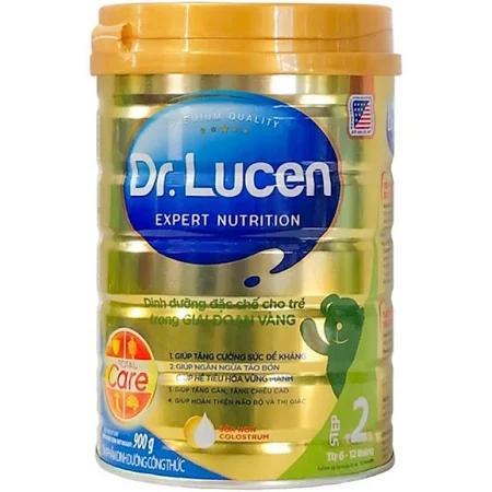 Sữa Dr. Lucen 1; 2; 3 (Sữa đặc hiệu dinh dưỡng đặc chế cho trẻ trong giai đoạn vàng từ 0->36 tháng tuổi; cung cấp một lượng kháng thể tự nhiên, giúp tăng cường hệ miễn dịch, hỗ trợ hệ tiêu hóa, tăng c