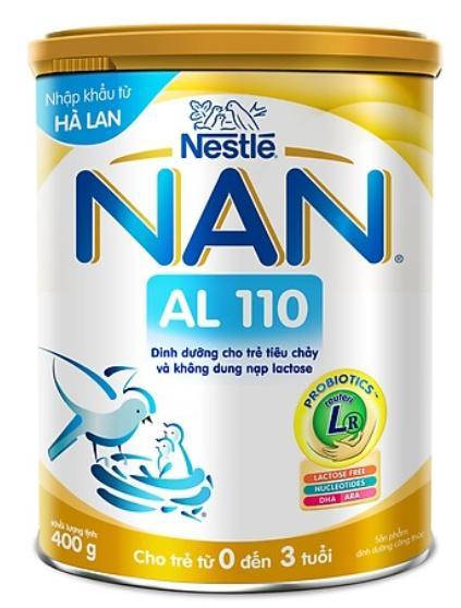 Sữa NAN AL 110 (Sữa đặc hiệu dùng cho trẻ từ sơ sinh đến 3 tuổi bị tiêu chảy và không dung nạp được chất Lactose)
