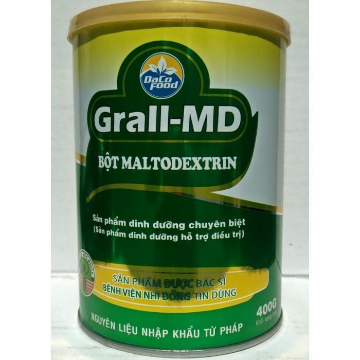 Bột Dinh Dưỡng Grall-MD ((sản phẩm dinh dưỡng hỗ trợ điều trị cho người bất dung nạp lactose, tiêu chảy kéo dài, bệnh lý sơ gan, trẻ sơ sinh, trẻ sinh non tháng, ....