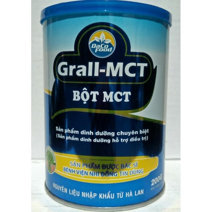 Bột Dinh Dưỡng Grall-MCT (sản phẩm dinh dưỡng hỗ trợ điều trị cho trẻ sinh non, bệnh lý gan, bệnh lý tụy, tiêu chảy do muối mật, hội chứng ruột ngắn; trẻ chậm tăng cân, suy dinh dưỡng và một số bệnh m