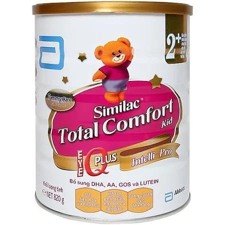 Sữa Similac Total Comfort 2+ dùng cho trẻ từ 0 -> 12 tháng tuổi (Sữa đặc hiệu dành cho trẻ kém dung nạp đường lactose gây đầy hơi, tiêu chảy, quấy khóc khi ăn, thích hợp với đường tiêu hóa còn non yếu