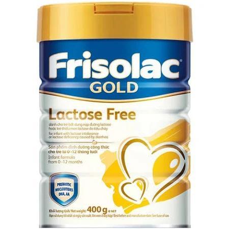 Sữa Frisolac Gold Lactose Free dành cho trẻ sinh non từ 0->6 tháng tuổi (Sữa đặc hiệu dùng cho trẻ bất dung nạp lactose hoặc thiếu men lactose do Tiêu Chảy)
