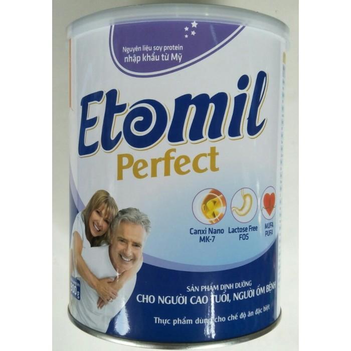 Sữa Etomil Perfect (Sữa dành người cao tuổi, người ốm bệnh, người cần phục hồi sau phẩu thuật, người gầy yếu, người ăn uống kém)