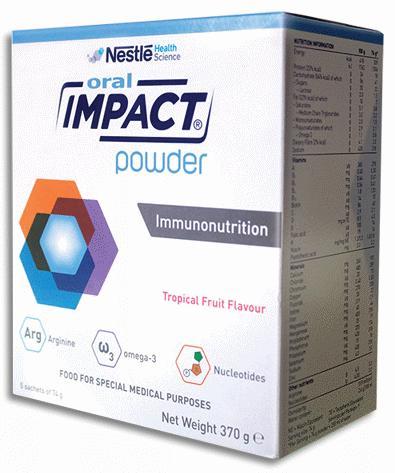 Sữa Oral Impact Powder (Sữa đặc hiệu tăng cường miễn dịch cho bệnh nhân trước và sau phẫu thuật, giúp đẩy nhanh quá trình phục hồi và mau làm lành vết thương)