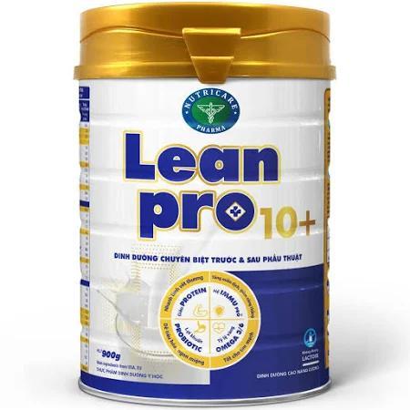 Sữa Leanpro 10+ (Sữa đặc hiệu dành cho bệnh nhân trước & sau phẫu thuật, giúp hồi phục sức khỏe, giảm biến chứng và nhanh làm lành vết mổ, nâng cao sức đề kháng, giảm căng thẳng mệt mỏi)