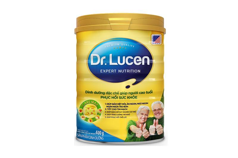 Sữa Dr. Lucen CareMax (Sữa đặc hiệu dinh dưỡng đặc chế giúp người cao tuổi Phục hồi sức khỏe, giúp ăn ngủ ngon hơn, giảm mệt mỏi, hạn chế suy nhược, tăng cường trí nhớ, phục hồi thể lực, hỗ trợ hệ tim