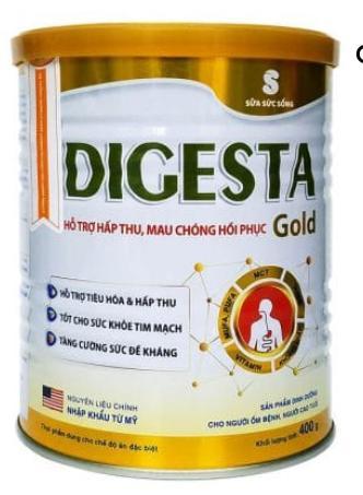 Sữa DIGESTA Gold 400g (dành cho người bị bệnh nặng; hôn mê do tai biến, bệnh nhân lao, suy tim, suy hô hấp, ung thư,...)