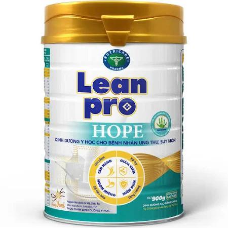 Sữa LeanPro Hope (Sữa đặc hiệu chuyên biệt dành cho bệnh nhân ung thư, suy mòn và sụt cân do suy mòn trong quá trình hóa trị, xạ trị là nguyên nhân lớn dẫn đến không đáp ứng tốt hiệu quả điều trị)