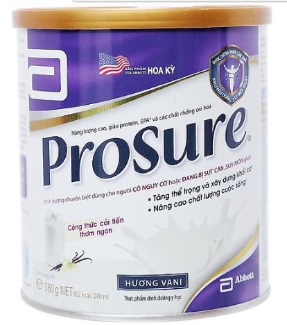 Sữa Prosure Vanilla (Sữa đặc hiệu chuyên biệt hỗ trợ  trong cuộc chiến chống Ung Thư, cải tiến mới thơm ngon hơn, giàu Protein, EPA và các chất chống Oxy hóa giúp tăng thể trọng, xây dựng khối cơ và n