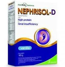 Sữa Nephrisol-D (Sữa đặc hiệu chuyên biệt dành cho bệnh nhân chạy thận nhân tạo, giàu Protein năng lượng cao, giàu vitamin và khoáng chất thiết yếu cho bệnh nhân đang trong giai đoạn lọc máu ngoài thậ
