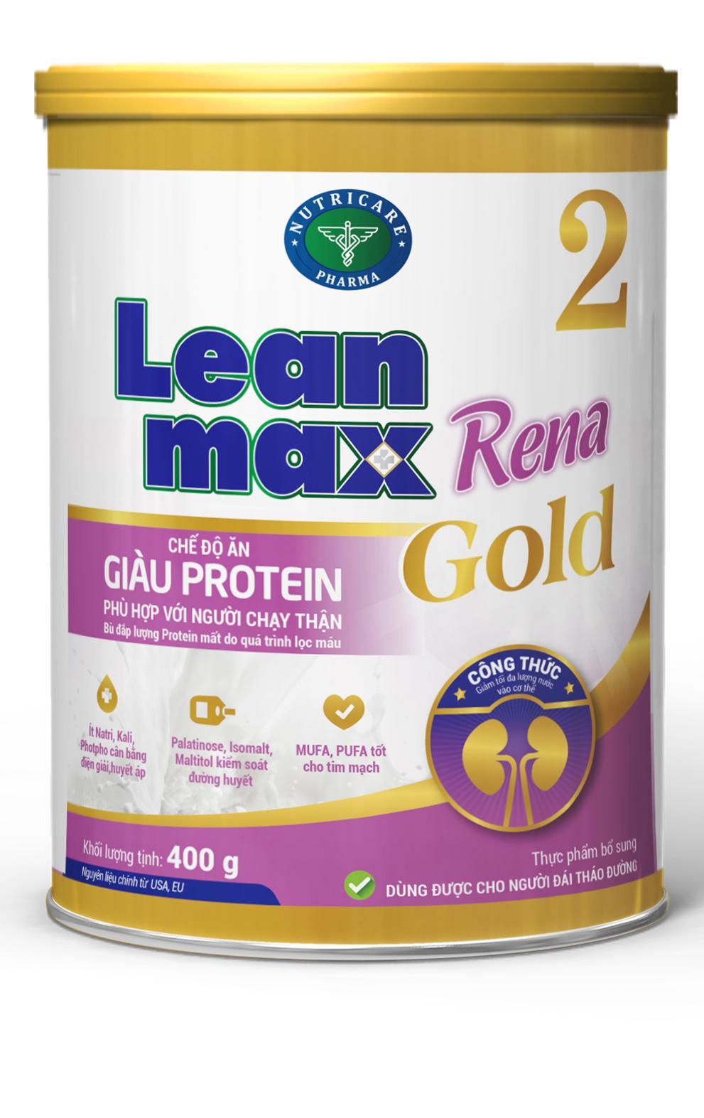 Sữa Leanmax Rena 2 Gold (Sữa đặc hiệu dành cho người chạy lọc thận)