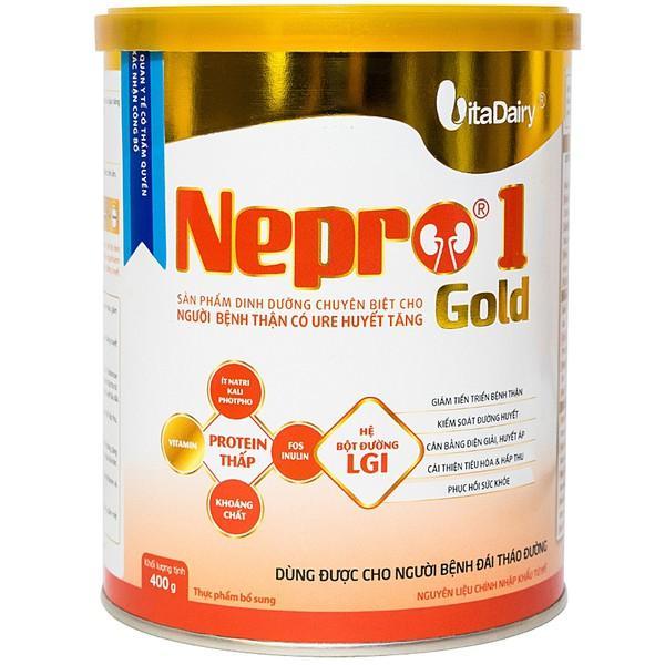 Sữa Nepro 1 Gold (Sữa đặc hiệu dành cho người bệnh thận có Urê huyết tăng dùng được cho người bệnh đái tháo đường)