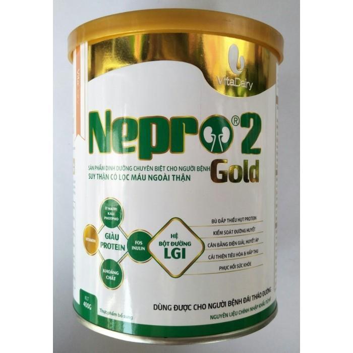 Sữa Nepro 2 Gold (Sữa đặc hiệu dành cho bệnh nhân đang lọc máu ngoài thận + Tiểu đường)