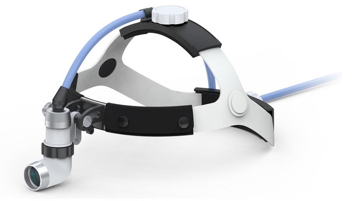 Đèn khám bệnh treo trán / Đèn phẫu thuật treo trán y tế công suất cao bằng sợi quang fiber