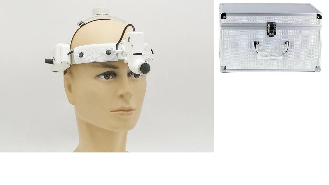 Đèn khám bệnh / Đèn phẫu thuật treo trán y tế công suất cao với Pin đôi sử dụng liên tục từ 10 giờ đến 20 giờ