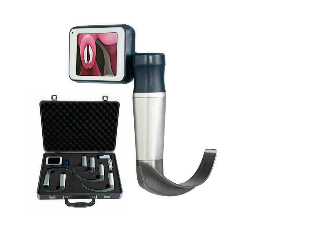 Bộ đặt nội khí quản có camera và phụ kiện đi kèm (loại lưỡi tái sử dụng dùng cho người lớn; trẻ em; trẻ sơ sinh và đặt nội khí quản khó)